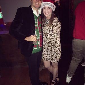 Leopard long sleeve dress | party dress